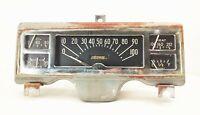Vtg original 40s Dodge Plymouth dash gauge panel insert cluster speedo oil heat