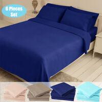 6 Piece Premium Bed Sheets Set Queen 1800 Series Hotel Luxury Soft Bedding Set