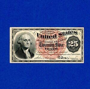 1869-1875 UNITED STATES 25 CENT FRACTIONAL CRISP HIGH GRADE NOTE