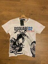 Dsquared2 Moto T-Shirt 100% Cotton White Color