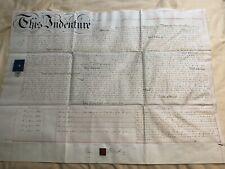 "thus indenture with queen victoria revenue stamp 1870 london 23x28"""