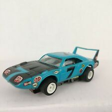 Mattel Tyco HO Scale 440-X2 PLYMOUTH SUPERBIRD PETTY BLUE Slot Car.