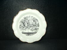 Vintage Alice in Wonderland mini plate THE MAD TEA PARTY Oxford England gold rim