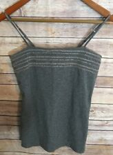 EXPRESS Womens Gray Embellished Tank Top Sz SMALL