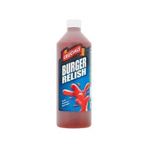 Crucials Burger Relish Squeezy Sauce 1L, Great on barbequed food and salads