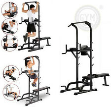 Pieghevole home fitness POWER tower dip station SIT/Pull/Stampa/Chin Up Bar Bench