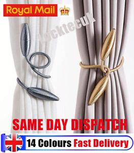 Magnetic Curtain Tie Backs Hooks Rope Buckle Clip Tiebacks & Holdbacks Fast Deli