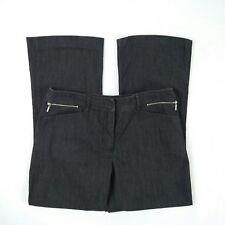 Rockmans Black Mid Rise Wide Straight Leg Stretch Jeans Pant Women's Size 12 W32