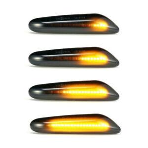 For BMW E46 E90 E60 E91 E87 Sequential LED Smoked Turn Signal Side Marker Lights