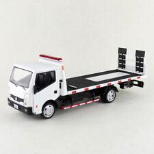 Nissan Cabstar Truck Trailer Transporter 1:32 Model Car Diecast Toy Gift White