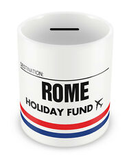 ROME Holiday Fund Money Box - Gift Idea Travelling Savings Piggy Bank