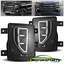 FIT 16-18 Chevy Silverado 1500 OE Style Clear Lens Fog Lights DRL 2016 2017 2018