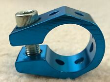 """Tuf Neck / Odyssey Style BMX bicycle seat clamp 25.4mm (1"""")  ANODIZED BLUE"""