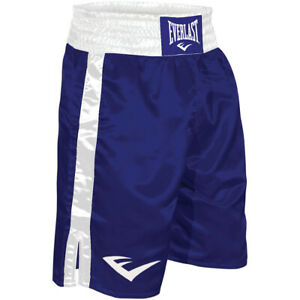 Everlast Standard Top of Knee Boxing Trunks - XL - Blue/White