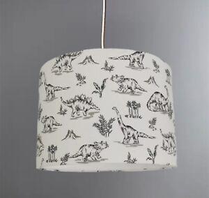 New HQ stunning kids room dinosaur 🦕 white lamp shade pendant white fabric