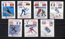 SPORT: SARAJEVO WINTER OLYMPIC GAMES ON GUINEA BISSAU 1984 Scott 529-535, V.F.U.