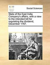 State of the East India Company's affairs, with, Contributors, Notes,,