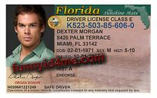 DEXTER MORGAN / Michael Hall Novelty Drivers ID ~ FREE SHIPPING ~