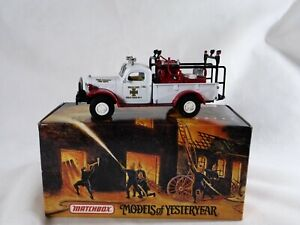 Matchbox Yym 37636 Dodge Pick-Up Power Wagon Fire Firefighter New Mint 1/43