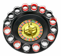 Shot Glass Roulette - Drinking Game Set (Comes With 2 Balls and 16 Shot Glasses)