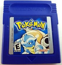 Pokemon Blue Version Nintendo Game Boy Cleaned & Good Save Battery Nice!