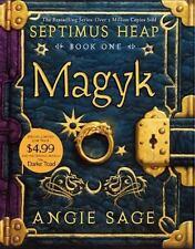 MAGYK Angie Sage FREE SHIPPING Septimus Heap paperback children's book 1 magic