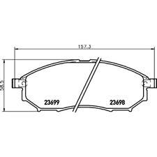 HELLA PAGID Bremsbelagsatz, Scheibenbremse Vorne Nissan 8DB 355 021-101
