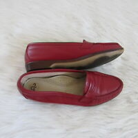 SAS Tripad Womens Red Loafers Size 7.5 Slip On Penny Loafer Comfort Shoes