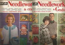 McCALLS NEEDLEWORK & CRAFTS MAGAZINE-2 issues-1965-66