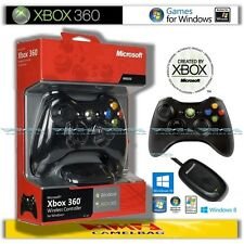 Original Microsoft Xbox 360 Wireless Controller y USB adaptador receptor para PC