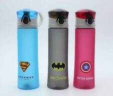 Water Bottle Superhero Batman Superman Captain America BPA Free Sports Outdoor