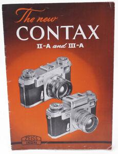 Genuine Original Zeiss Contax IIa & IIIa Brochure - 1951 - NICE