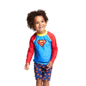 Zoggs Superman Long Sleeve Sun Top Boys 30% OFF RRP!