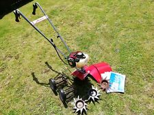 HONDA 7263 4 STROKE HONDA GX25 GARDEN TILLER WITH DETHATCHER AND ACCESSORIES.