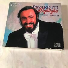 PAVAROTTI HIGHLIGHTS~La Traviata/Rigoletto~2 CD SET~DELUCE BX98562-2CD ~ L.N.EXC