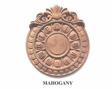 """Hand Carved Solid Mahogany Wall Clock face  11"""" x 9-3/4"""" x 1-1/8""""Thick"""