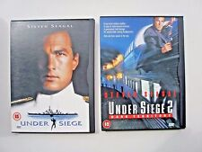 UNDER SIEGE & UNDER SIEGE 2 (DVD, 1999) THESE COME IN CARDBOARD CASES
