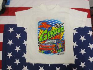 JEFF GORDON NASCAR 3 SIDED SHIRT YOUTH SIZE 6 VINTAGE RETRO BOYS KIDS DUPONT BEE