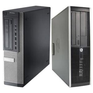 DELL HP PC SFF Desktop  16GB RAM QUAD THREAD 480GB SSD Fast Computer Win 10 WiFi