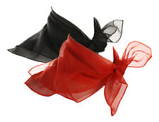 Black & Red Scarf Set - 2 Sheer Chiffon 50s Style Scarves - Hey Viv Retro