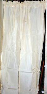 """Heavier Off White  Curtains, 42"""" Wide 76"""" Long, Made in the USA"""