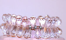 vintage JEWELRY BRACELET SIGNED MIRIAM HASKELL STRETCH LUCITE CRYSTAL PRISMS