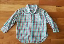 Kelly's kids Boys XS (3 - 4) Preppy Plaid (Red, Turquoise, & Green)  Long Sleeve
