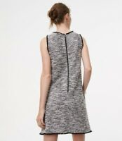 NEW ANN TAYLOR LOFT Fringe Tweed Shift Dress / Платье.. Petite XXS.