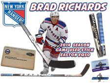 BRAD RICHARDS Game Used Stick NEW YORK RANGERS - EASTON EQ50