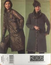 Vogue Sewing Pattern 2868 Koos Couture Reversible Coat Hat Scarf Misses  6 8 10