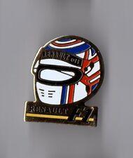 pin's sport  auto / Casque renault - Elf - F1 Formule 1 (signé idéal P)