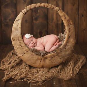 Newborn Photography Chunky Burlap Layer Net Hessian Jute Backdrop Blanket Props