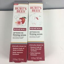 Burt's Bees Renewal Intensive Firming Serum (LOT of 2) 1.1 fl oz Each New Sealed