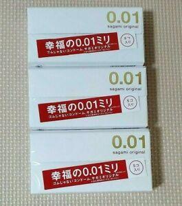 Sagami Original Condoms Ultra Thin 0.01mm 5pcs X 3 Pack New